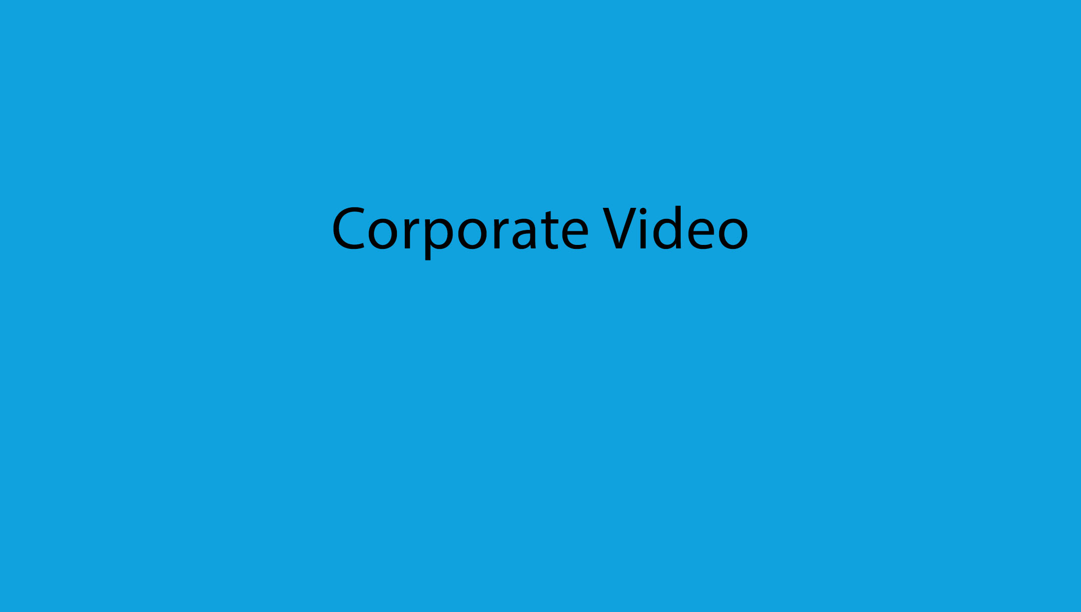corporate video text